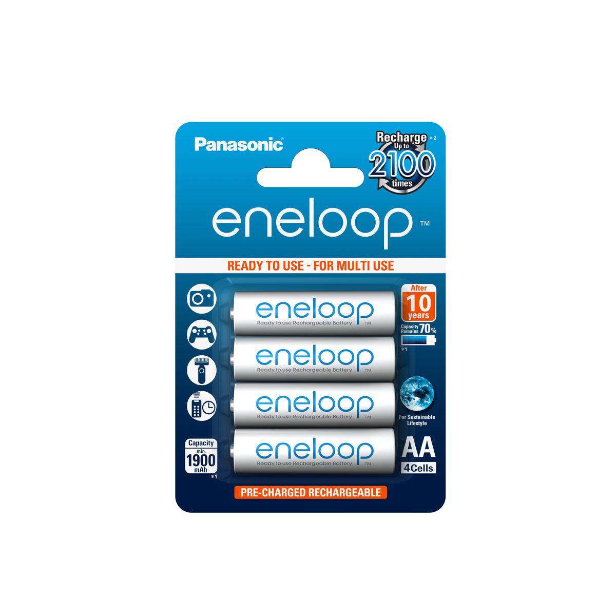 Panasonic Eneloop hleðslurafhlöður