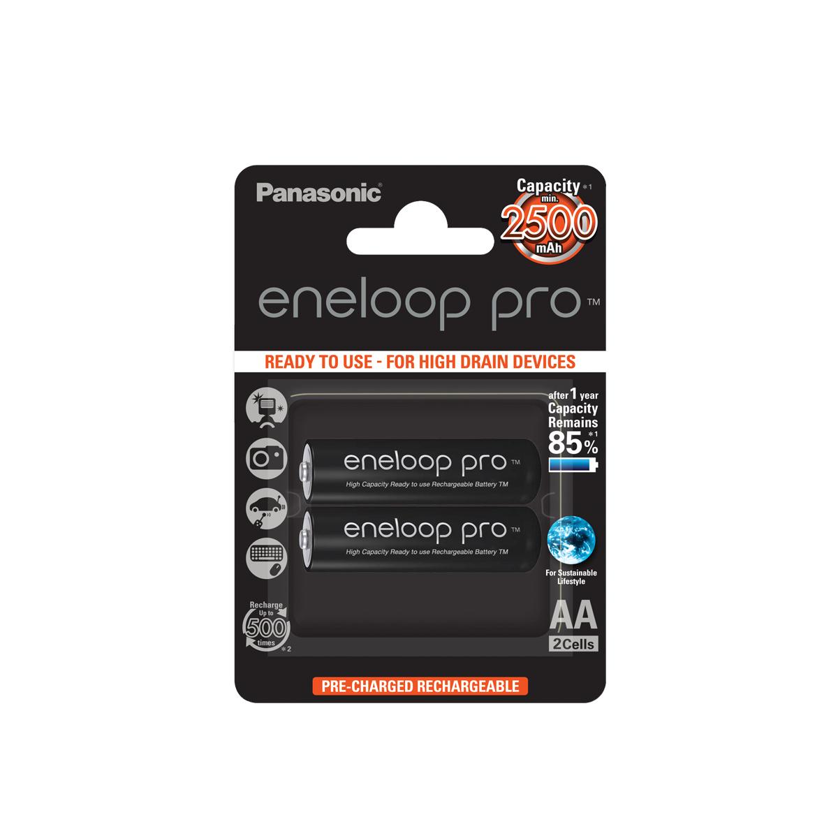 Panasonic Eneloop Pro hleðslurafhlöður